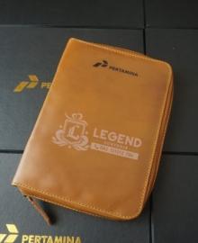 cover binder kulit Pertamina premium