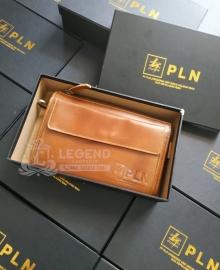 Jual Souvenir Pouch Kulit PT PLN Riau
