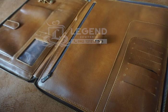 Buku Agenda Kulit Asli dan card holder kulit