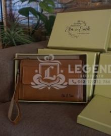 Pouch Bag Kulit Untuk Souvenir Nikah