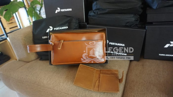hand bag kulit pertamina dan carrd holder
