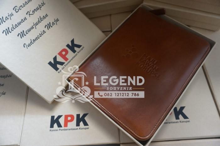 Vendor Souvenir Kantor hadiah KPK binder kulit