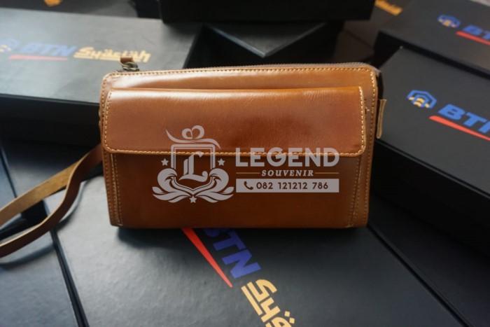 souvenir kantor pajak pouch bag kulit