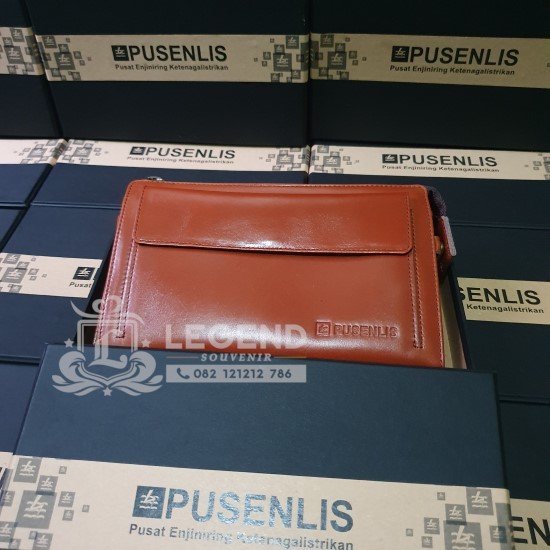 souvenir pouch kulit untuk promosi kantor semarang